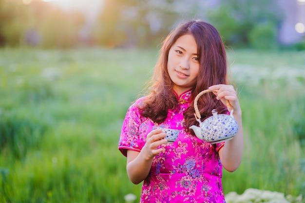 Ceremonia del té chino tradicional