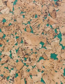 Cerrado de fondo de textura de tablero de madera de corcho marrón