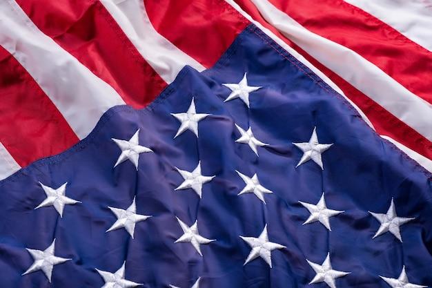 Cerrar la bandera estadounidense