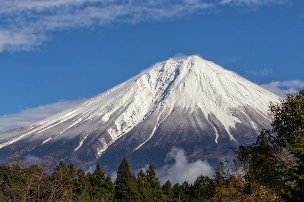Cerrar la cima del monte fuji