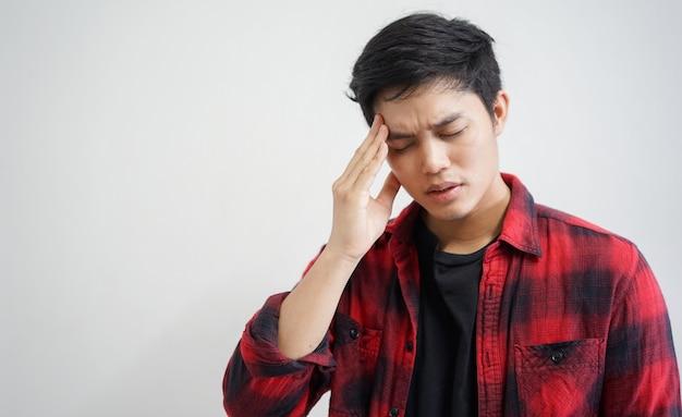 Cerrar concepto de hombre asiático joven