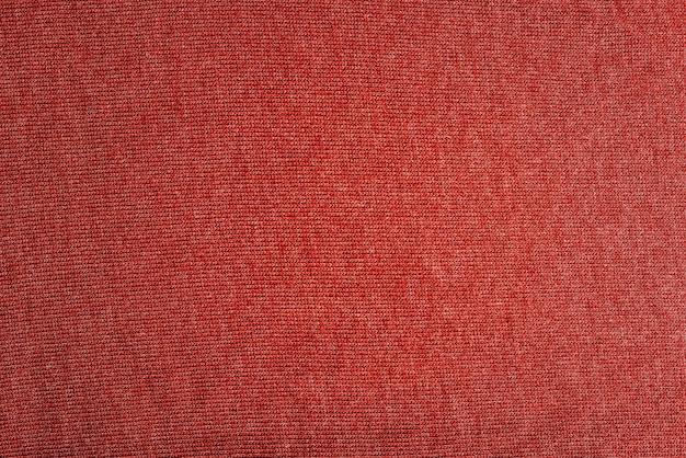 Cerrar foto de textura de tela roja