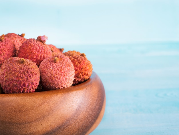 Cerrar la fruta del lichi