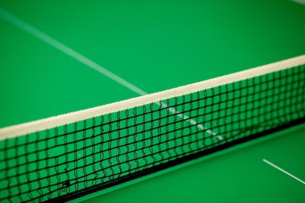 Cerrar línea y red de ping pong