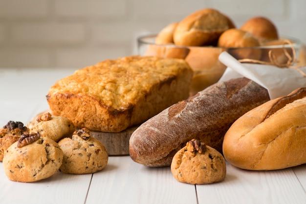 Cerrar mezcla de pan