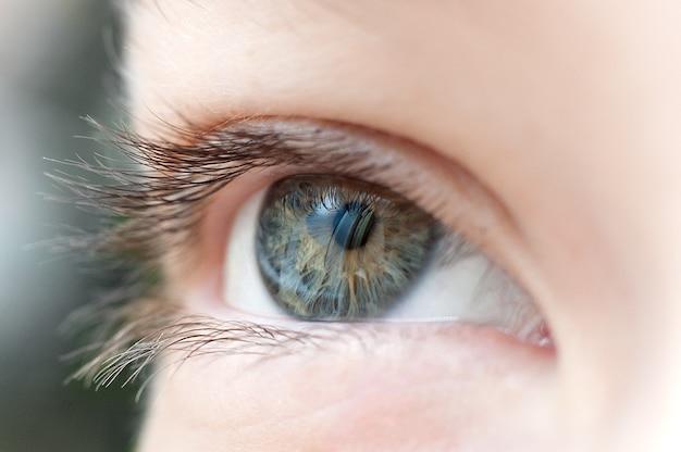 Cerrar el ojo humano macro fotografía