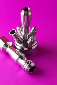 Cerrar las partes metálicas de la cachimba