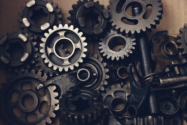 Cerrar piezas de engranajes mecánicos
