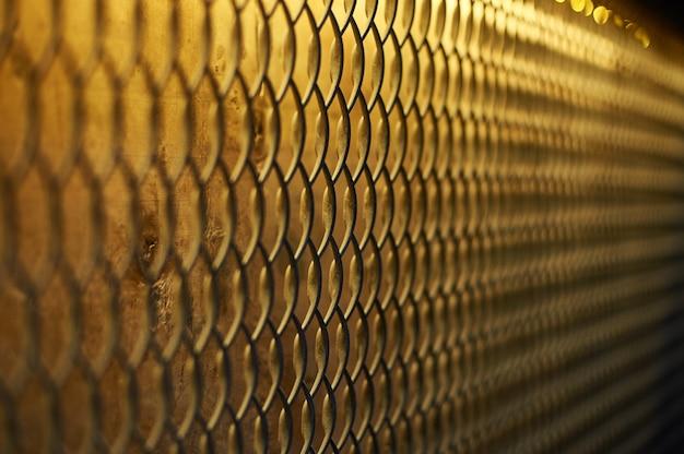 Cerrar la red de eslabones de la cadena para la cerca