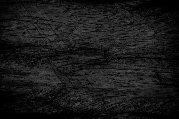 Cerrar la superficie de la mesa de madera rústica negra con textura de grano en el estilo vintage