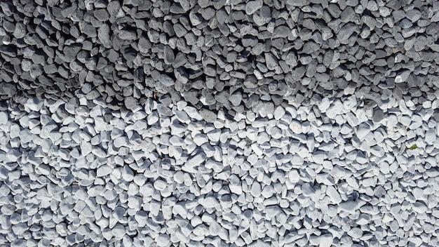 Cerrar vista de grava gris mixto y pizarra gris piedras fondo