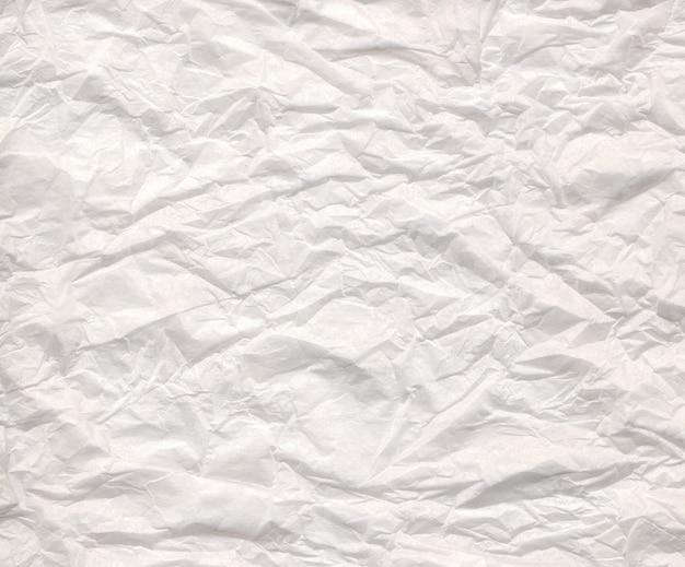 Cerrar vista de un papel arrugado blanco