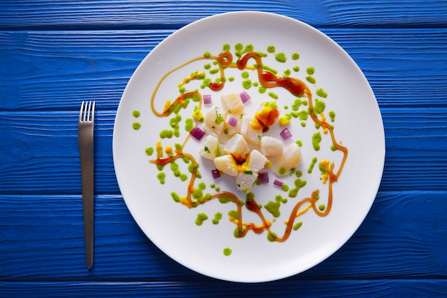 Ceviche receta estilo gastronomico moderno.