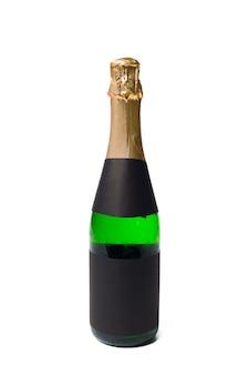 Champagne sobre un fondo blanco.