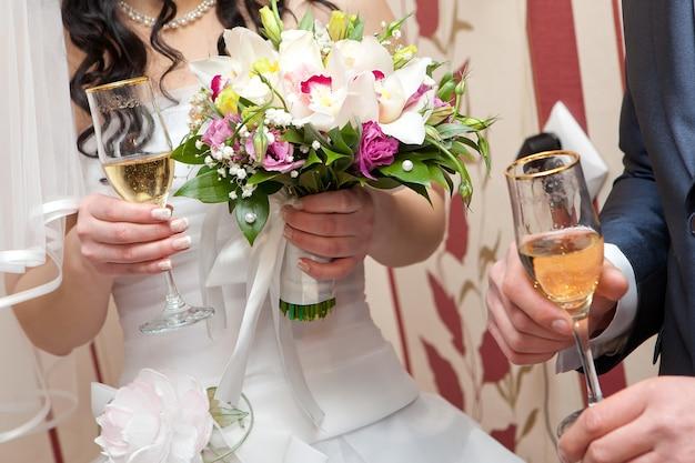 Champán en la boda