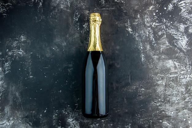 Champaña vista superior