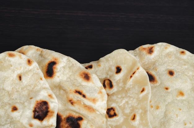 Chapati de cocina tradicional india