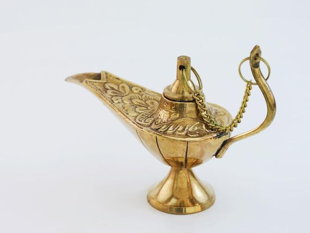 Charming genie aladdin's lamp