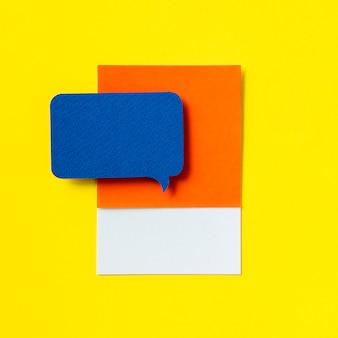 Chat de mensajes icono de burbuja de diálogo