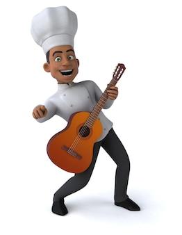 Chef divertido - ilustración 3d