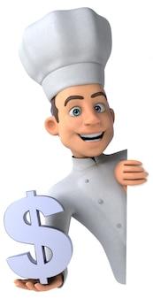 Chef divertido - personaje 3d