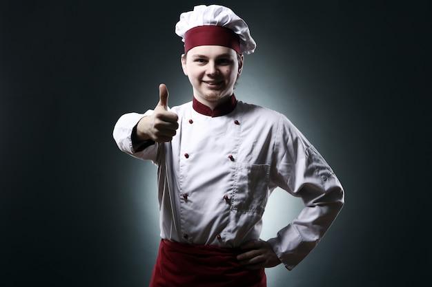 Chef mostrando signo ok