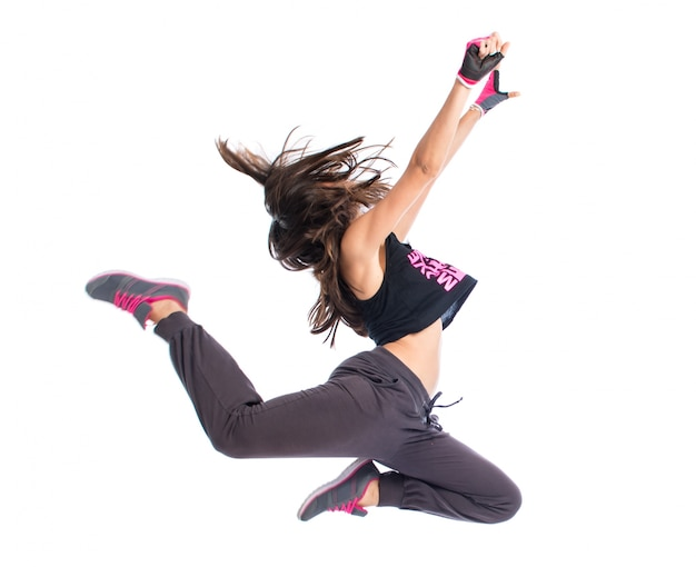 Chica adolescente bailando hip hop