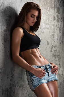 Chica hermosa fitness