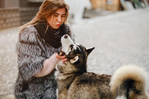 Chicas con perro