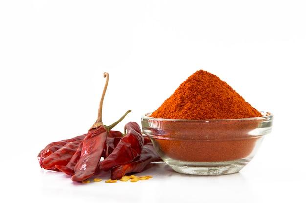 Chile rojo seco y polvo