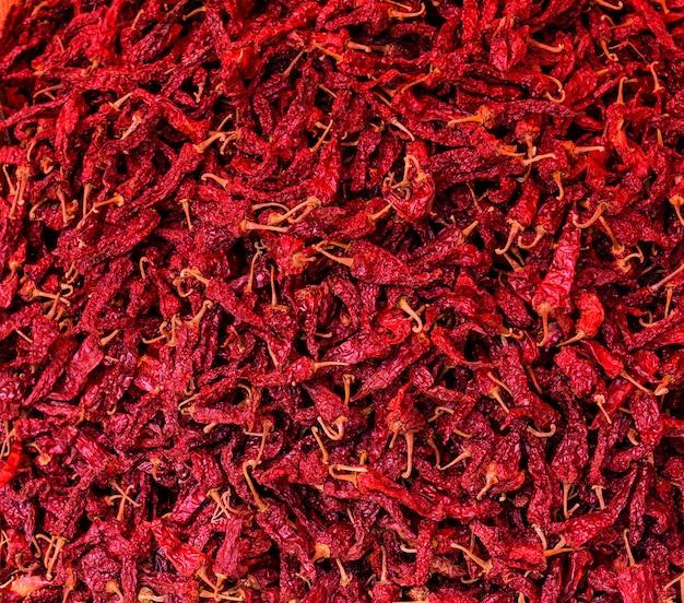 Chiles secos productos agrícolas ecológicos. fondo y textura.