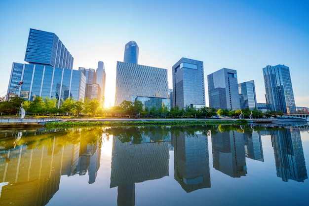 China paisaje urbano de ningbo