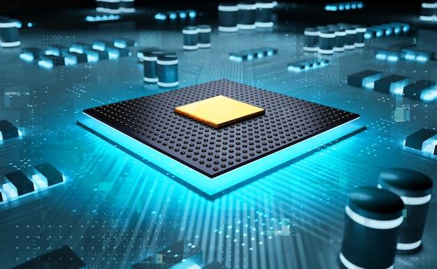 Chipset de cpu de circuito de representación 3d