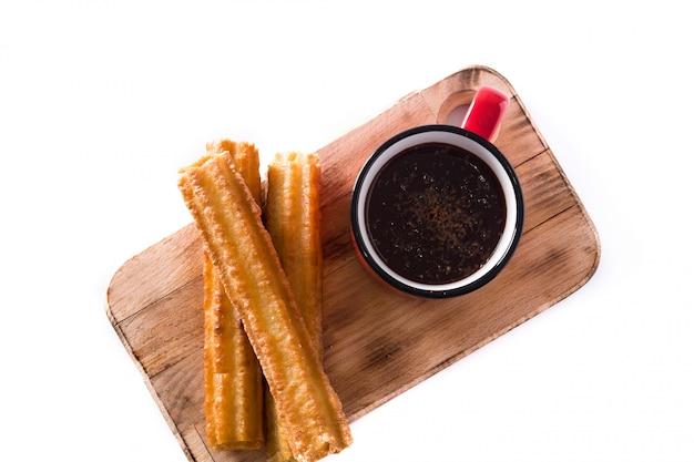 Chocolate caliente con churros