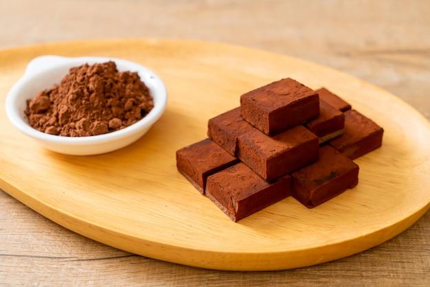 Chocolate fresco y suave