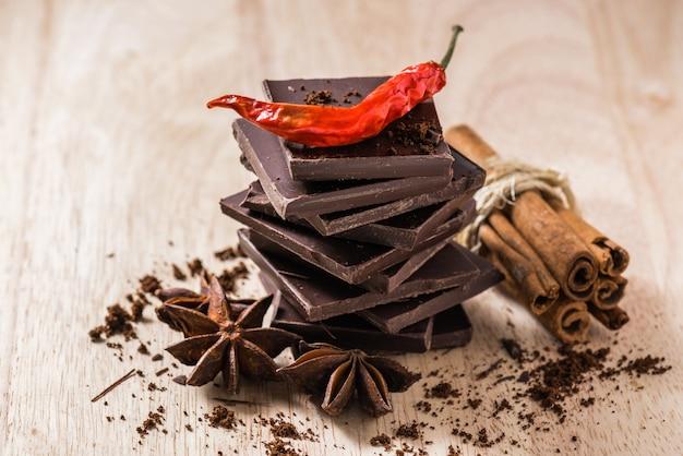 Chocolate con un poco de condimento