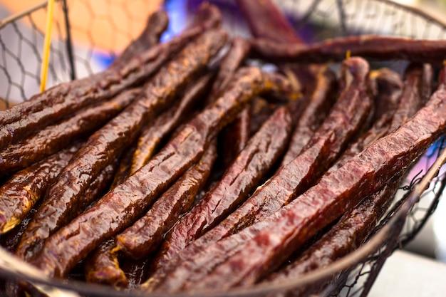 Chorizo tradicional a la salchicha española.