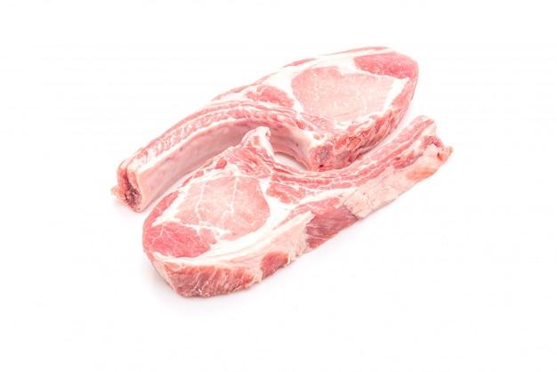 Chuleta de cerdo cruda