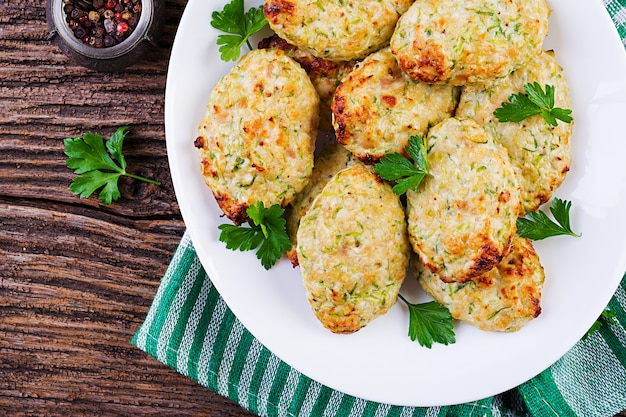 Chuleta de pollo con calabacín