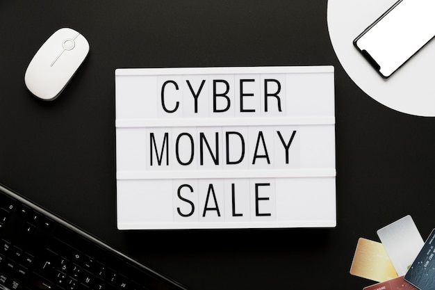 Ciber lunes mensaje de comercio en línea