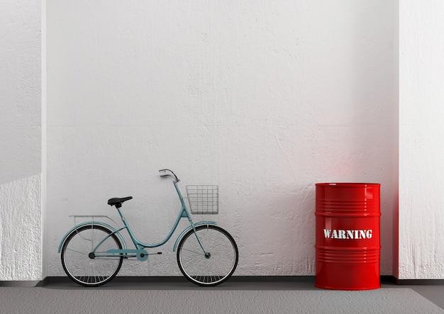 Ciclo apoyado en la pared