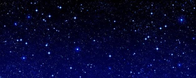 Cielo estrellado azul