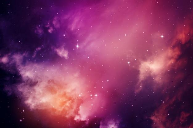 Cielo nocturno con estrellas.