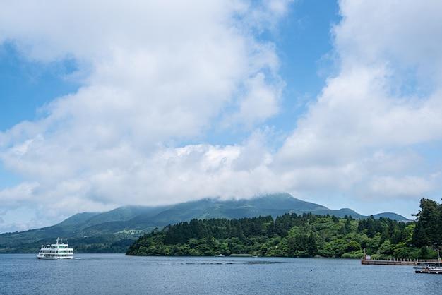 Cielo y nubes, lago ashi