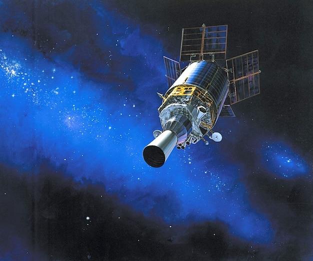 Cielo órbita dsp espacio estrellas en órbita satélites