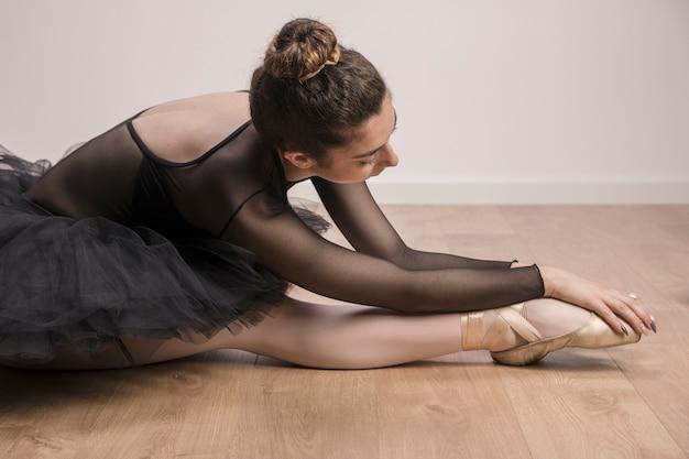 Cierre de bailarina de estiramiento