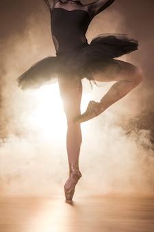 Cierre de bailarina tutu y zapatos de punta