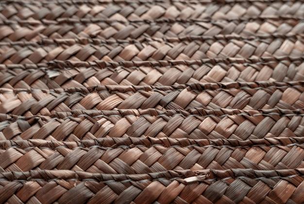 Cierre de la cesta de mimbre de textura para su uso como fondo. cesto tejido de textura.