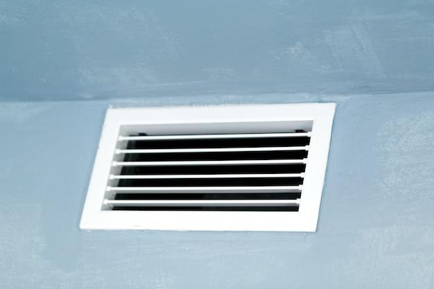 Cierre de ventilación en la pared.