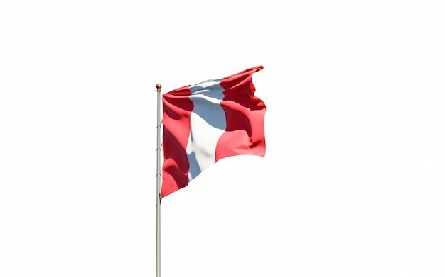 Ciérrese para arriba en la representación aislada de la bandera nacional